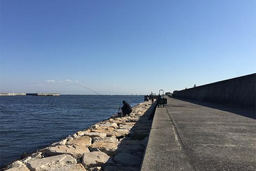 2015年初釣り、神戸は南芦屋浜にいってきた。