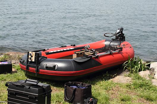 ゴムボートでバス釣りする小アイテム④ロッドホルダー。