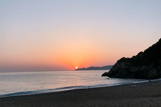 和歌山、有田プライベートビーチでキス釣りとキャンプを楽しむ。